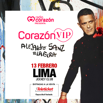 Corazón VIP te lleva a ver en vivo a Alejandro Sanz