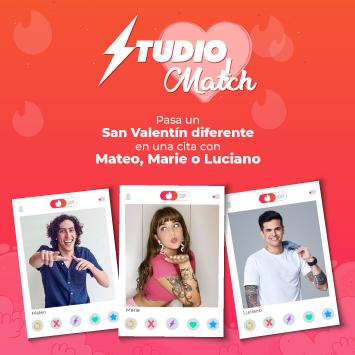 Studio Match: Pasa un San Valentin diferente en una cita con Mateo, Marie o Luciano.
