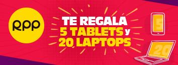¡RPP te sigue premiando con 5 tablets y 20 laptops!